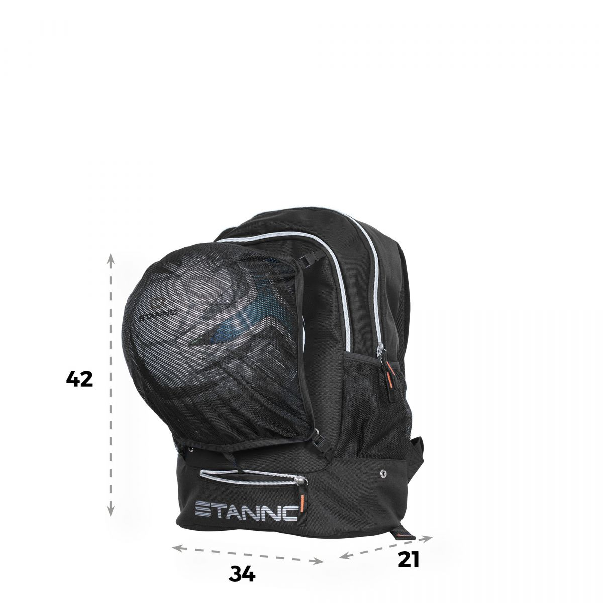 2f8329fd5e8 Stanno Backpack met ballennet Zwart, kopen? | Sportdirect.com